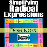 Simplifying Radical Expressions Dominoes Puzzle 4 Interactive Notebook