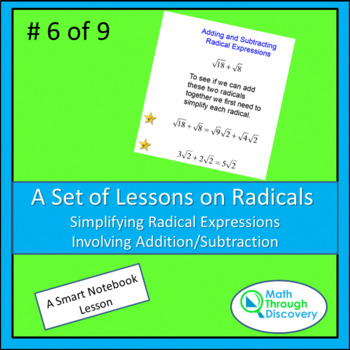 Algebra I:  Simplifying Radical Expressions with Addition/Subtraction