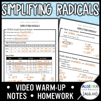 Simplifying Radical Expressions Lesson