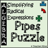 Simplifying Radical Expressions - Pipes Puzzle Activity