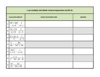 Simplifying Radical Expressions (R.REI.2)