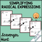 Simplifying Radical Expressions Scavenger Hunt Activity