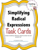 Simplifying Radical Expressions Task Cards