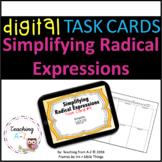 Simplifying Radical Expressions Task Cards including Digital Version