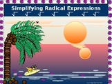 Algebra Power-point:  Simplifying Radical Expressions with