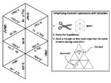 Simplifying Radical Expressions with Variables Game: Math Tarsia Puzzle