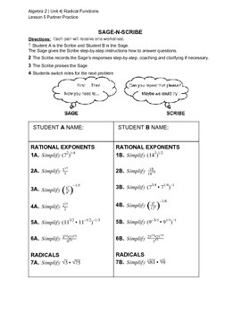 Simplifying Radical Functions Practice