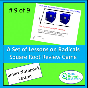 Algebra:  Square Root Review Game