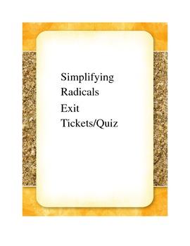 Simplifying Radicals