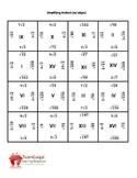 Simplifying Radicals 4x4 Math Puzzles