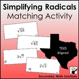 Simplifying Radicals Activity (A11A)