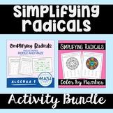Simplifying Radicals - Activity Bundle