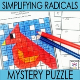 Simplifying Radicals Activity Mystery Puzzle