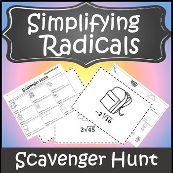 Simplifying Radicals Activity Stations {Simplify Radical Expressions}