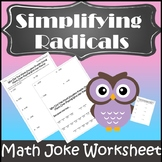 Simplifying Radicals Activity {Simplifying Roots Activity}
