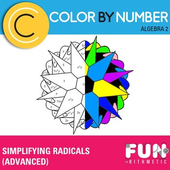 Simplifying Radicals (Algebra II) Color by Number