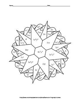 Simplifying Radicals (Algebra II) Color by Number