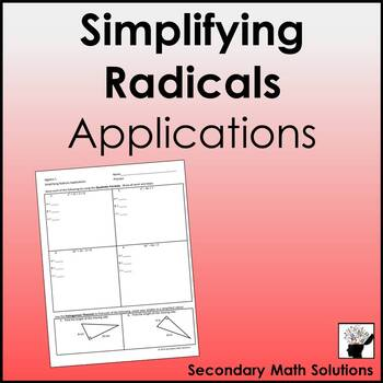 Simplifying Radicals Applications