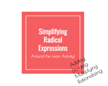 Simplifying Radicals Around the Room Activity