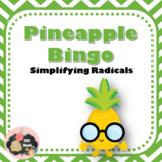 Simplifying Radicals Bingo