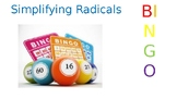 Simplifying Radicals Bingo and board included