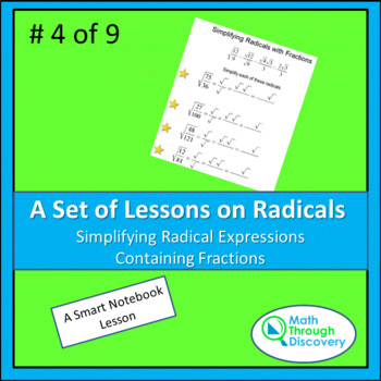 Algebra:  Simplifying Radical Expressions Containing Fractions