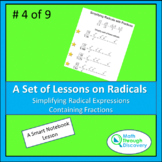 Algebra 1 - Simplifying Radical Expressions Containing Fractions