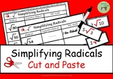 Simplifying Radicals Cut and Paste