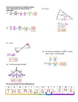 Simplifying Radicals Lesson