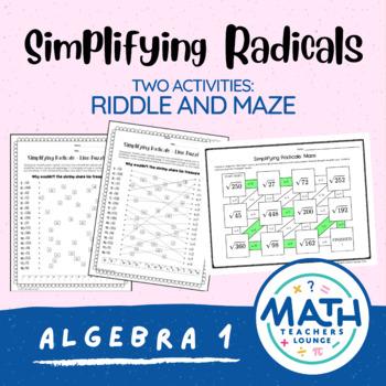 Simplifying Radicals: Line Puzzle Activity