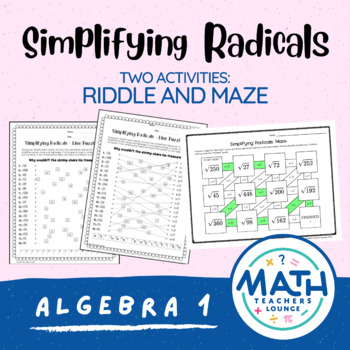 Simplifying Radicals: Line Puzzle Activity