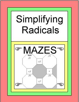 Simplifying Radicals - 2 MAZES