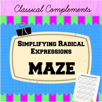 Simplifying Radical Expressions Maze