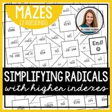 Simplifying Radicals Mazes (Higher Indexes)