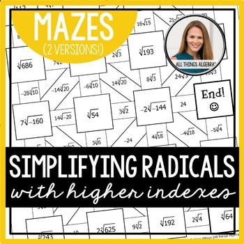 Simplifying Radicals Mazes (Higher Indexes)