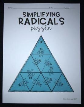 Simplifying Radicals (Mini Puzzle)