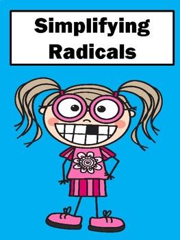 Simplifying Radicals No Prep Lesson