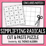 Simplifying Radicals Notes and Puzzle