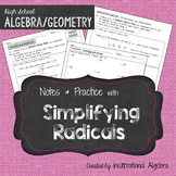 Simplifying Radicals: Notes & Practice