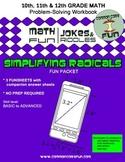 Simplifying Radicals Packet of FUN