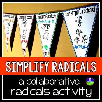 Simplifying Radicals Pennant