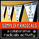 Simplifying Square Roots Math Pennant Activity