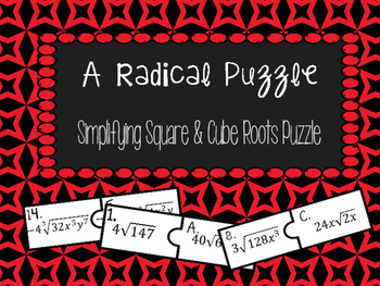 Simplifying Radicals Puzzle Activity