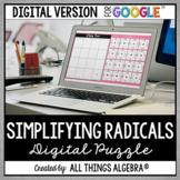 Simplifying Radicals Puzzle: DIGITAL VERSION (for Google Slides™)