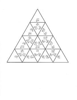 Simplifying Radicals Puzzle (Easy)