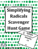 Simplifying Radicals Scavenger Hunt Game