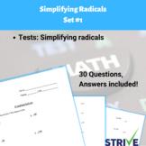 Simplifying Radicals - Set #1