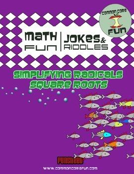 Simplifying Radicals (Square Roots) FUN sheet