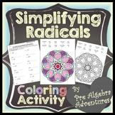 Simplifying Radicals Worksheet {Simplifying Radicals Color