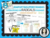 Simplifying Radicals and Operations Interactive Notebook Foldable